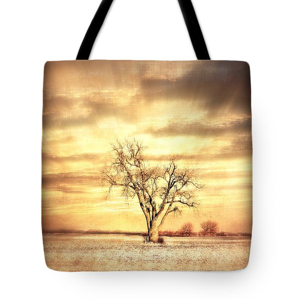 Old Cottenwood Tote Bag by Julie Hamilton