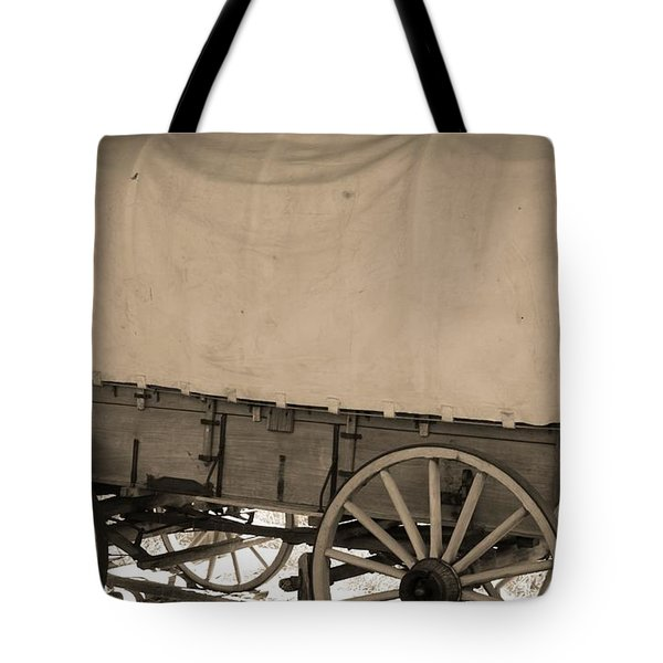 Old Covered Wagon Out West Tote Bag by Dan Sproul
