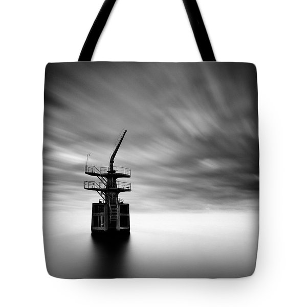 Old Crane Tote Bag by Dave Bowman