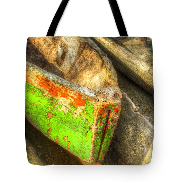 Old Dug-out Canoes Tote Bag by Debra and Dave Vanderlaan