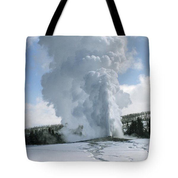 Old Faithful In Her Glory - Yellowstone Tote Bag by Sandra Bronstein
