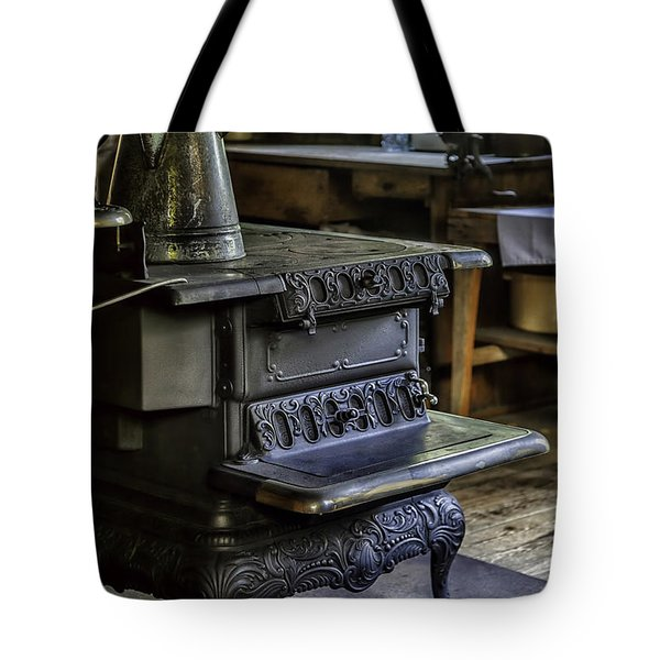 Old Farm Kitchen And Wood Burning Stove Tote Bag by Lynn Palmer