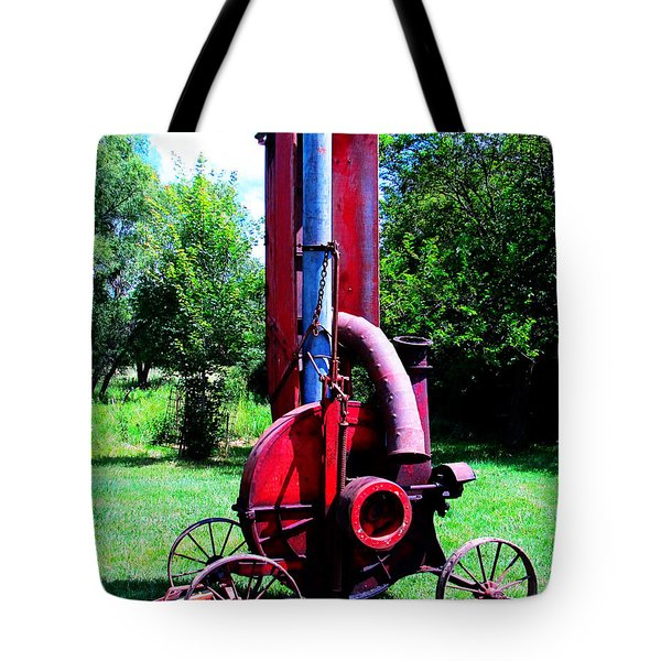 Old Farm Machinery Tote Bag by Tina M Wenger
