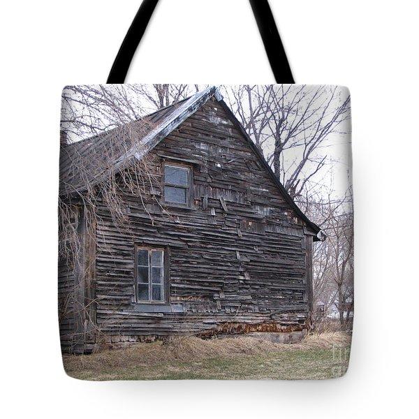 Old Farm Yamachiche Tote Bag by Line Gagne