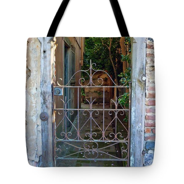 Old Gate Tote Bag by Lynn Bolt