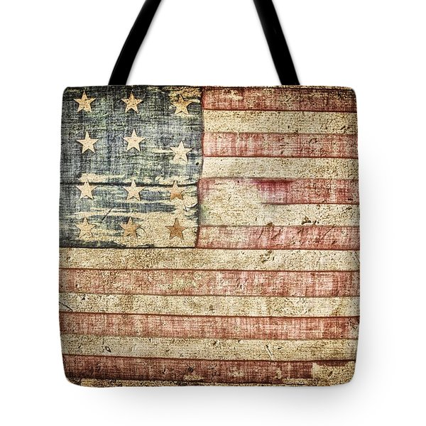 Old Glory 20 Strars Tote Bag by Todd and candice Dailey