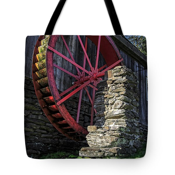 Old Grist Mill Vermont Tote Bag by Edward Fielding