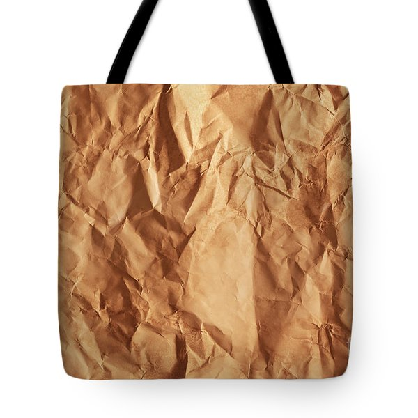 Old Grunge Creased Paper Texture. Retro Vintage Background Tote Bag by Michal Bednarek