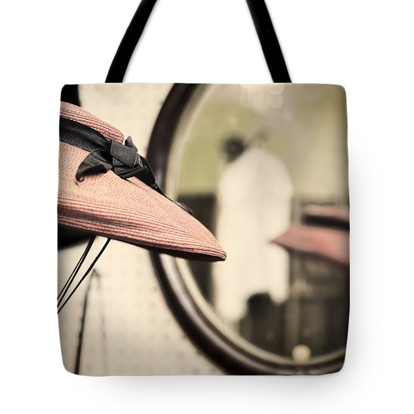Old Hat Tote Bag by Heather Applegate