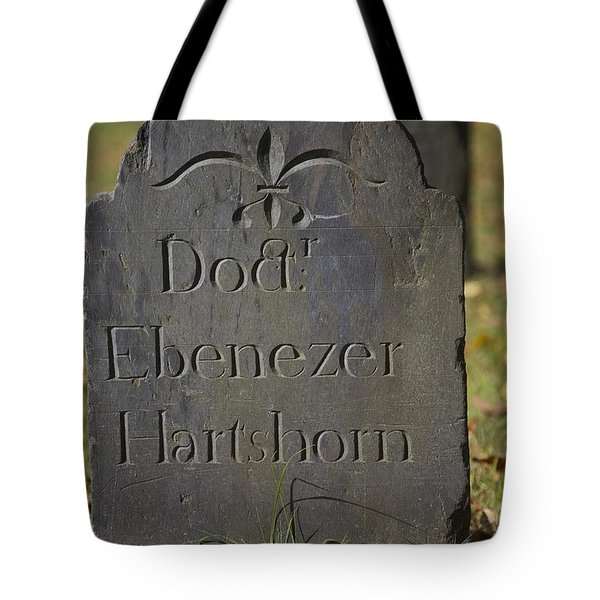 Old Headstone Tote Bag by Allan Morrison