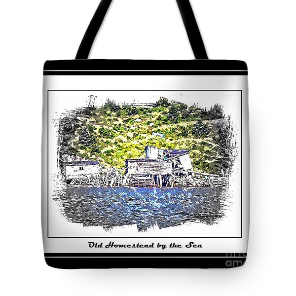 Old Homestead by the Sea Tote Bag by Barbara Griffin