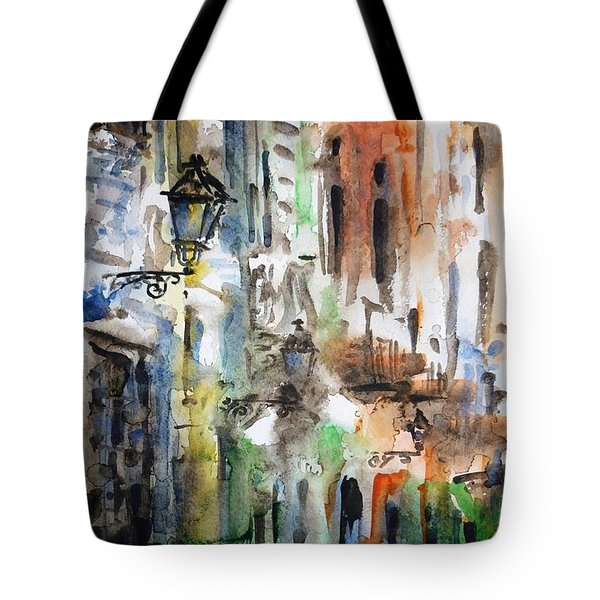 Old Houses of San Juan Tote Bag by Zaira Dzhaubaeva
