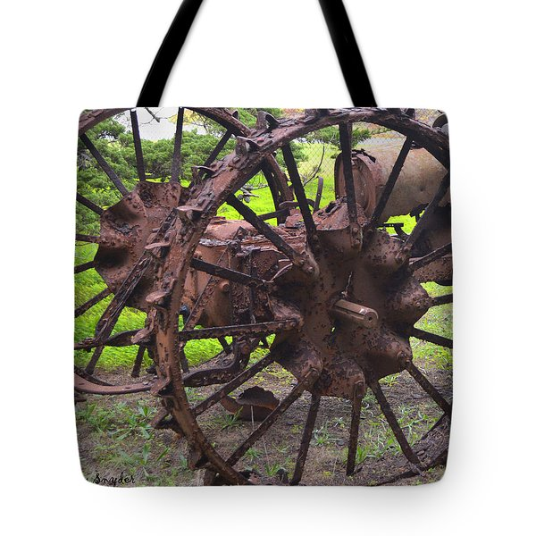 Old Iron Detail 2 Tote Bag by Barbara Snyder
