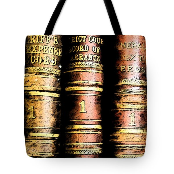 Old Ledgers					 Tote Bag by Lovina Wright