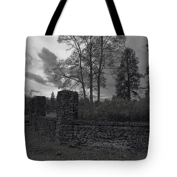 OLD LIBERTY PARK RUINS in Spokane Washington Tote Bag by Daniel Hagerman