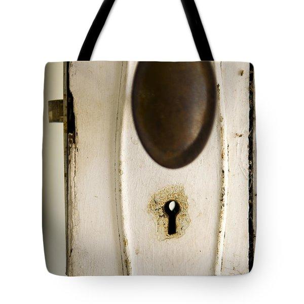 Old Lock Tote Bag by Tim Hester