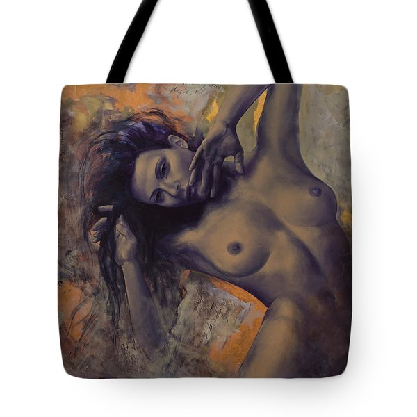 Old Love Letters Tote Bag by Dorina  Costras