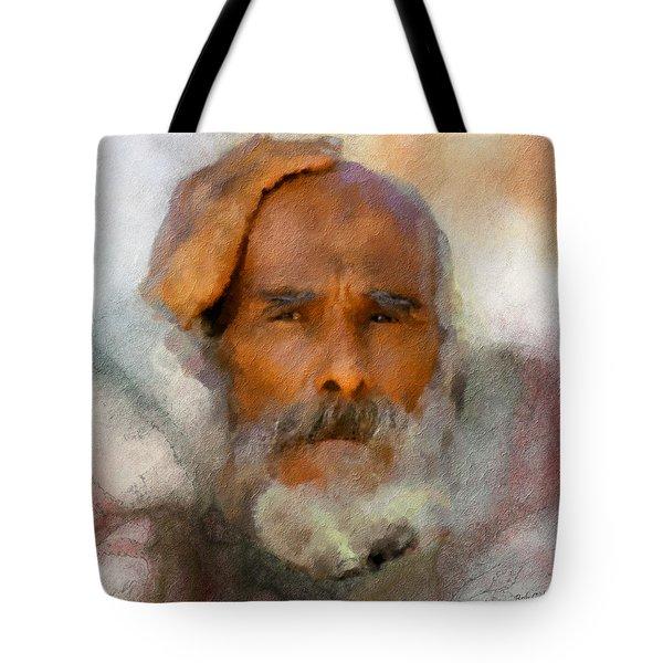 Old Man Tote Bag by Bob Galka