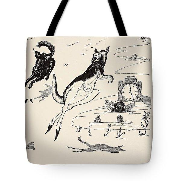 Old Man Kangaroo At Five Tote Bag by Rudyard Kipling