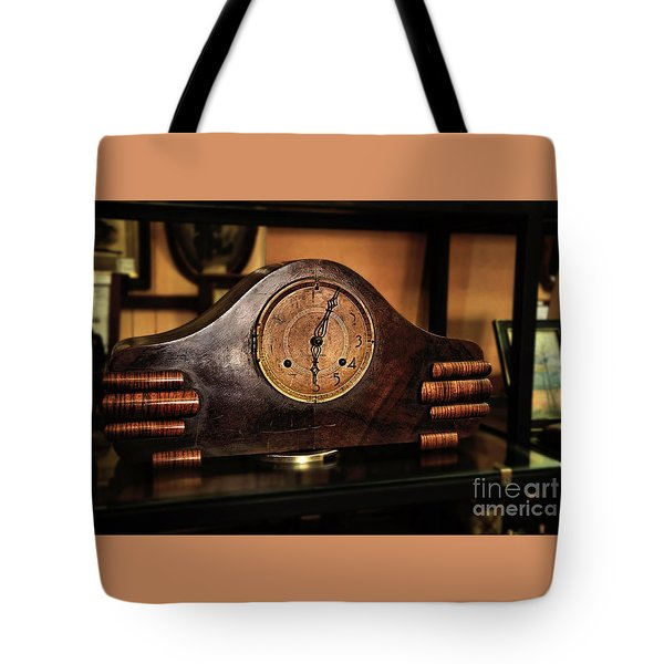 Old Mantelpiece Clock Tote Bag by Kaye Menner
