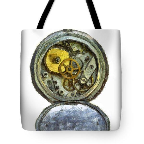 Old Pocket Watch Tote Bag by Michal Boubin