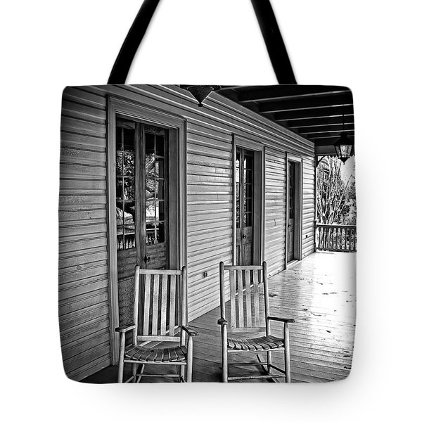 Old Porch Rockers Tote Bag by Perry Webster