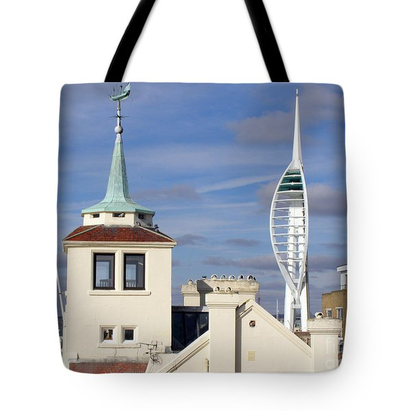 Old Portsmouth's Towers Tote Bag by Terri Waters