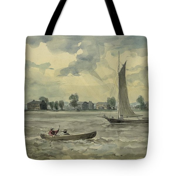 Old Quarantine Station circa 1857 Tote Bag by Aged Pixel