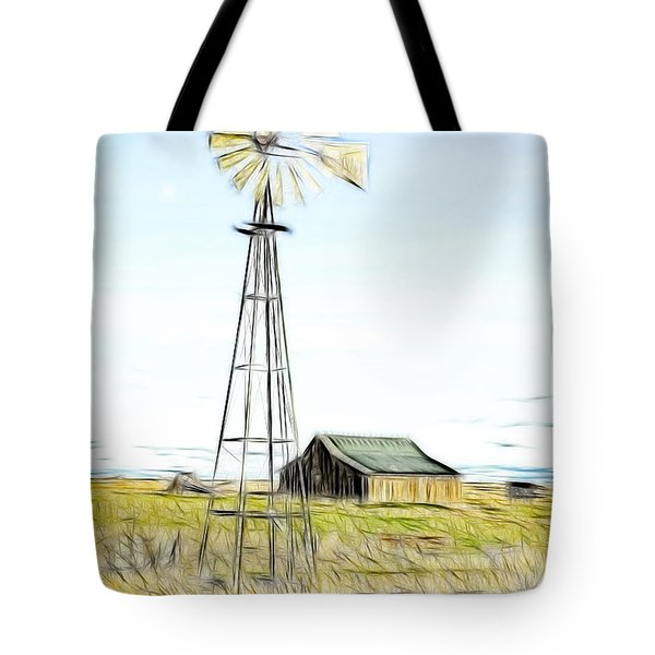Old Ranch Windmill Tote Bag by Steve McKinzie