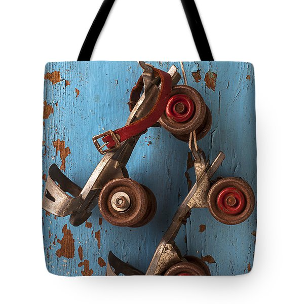 Old roller skates Tote Bag by Garry Gay