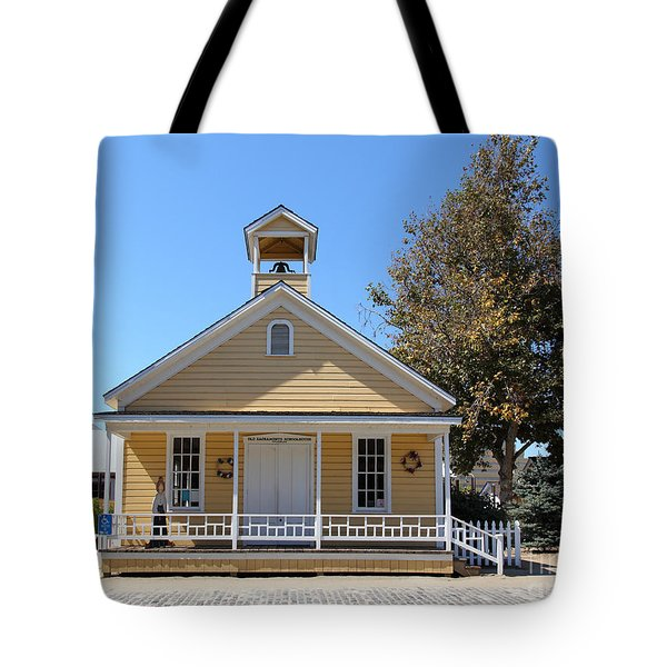 Old Sacramento California Schoolhouse 5d25541 Tote Bag by Wingsdomain Art and Photography