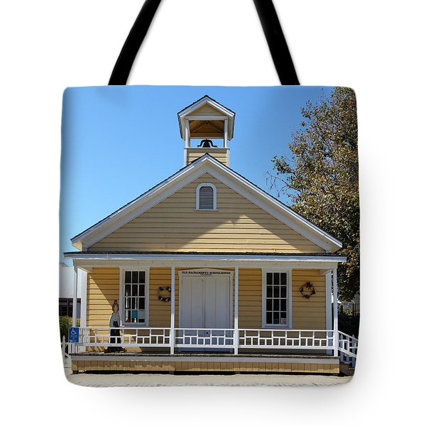 Old Sacramento California Schoolhouse 5D25543 Tote Bag by Wingsdomain Art and Photography