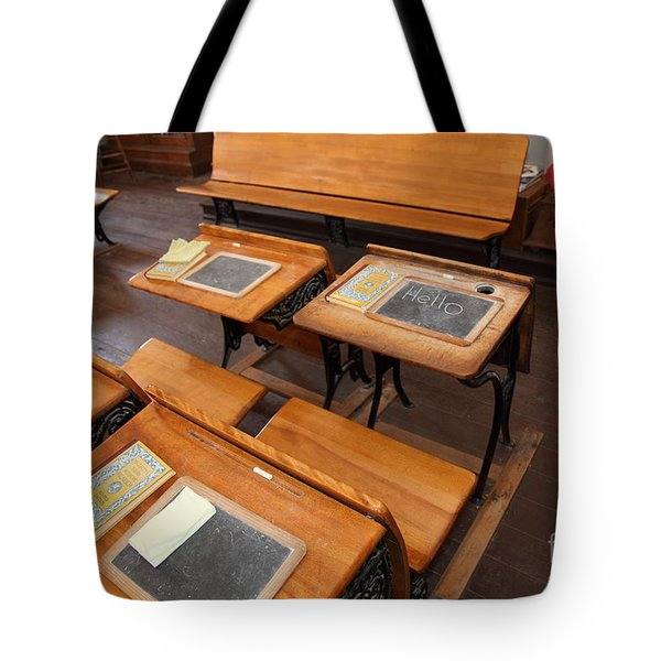Old Sacramento California Schoolhouse Classroom 5d25778 Tote Bag by Wingsdomain Art and Photography