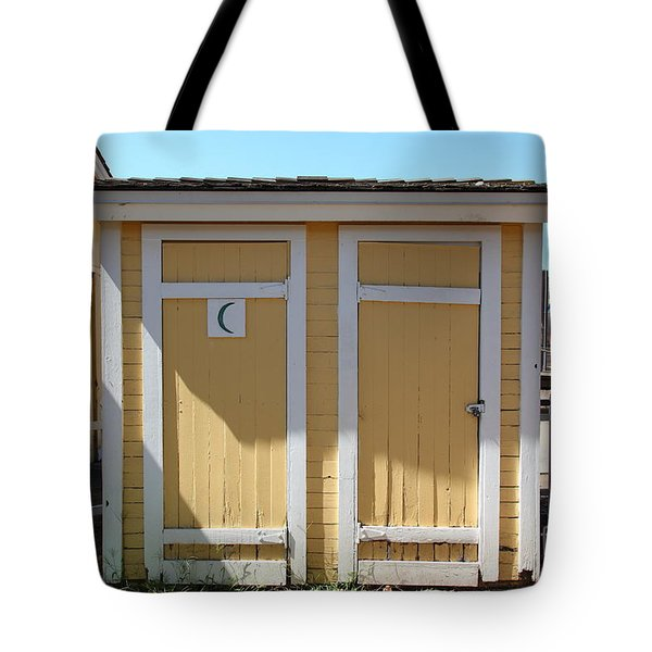 Old Sacramento California Schoolhouse Outhouse 5d25549 Tote Bag by Wingsdomain Art and Photography