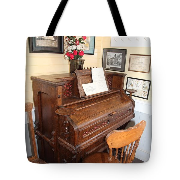 Old Sacramento California Schoolhouse Piano 5D25783 Tote Bag by Wingsdomain Art and Photography