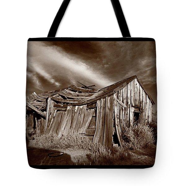 Old Shack Bodie Ghost Town Tote Bag by Steve Gadomski