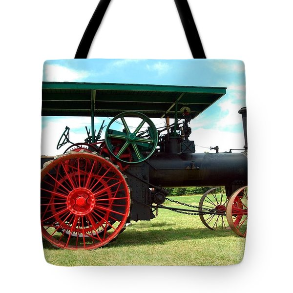 Old Steam Engine Tote Bag by Kathleen Struckle