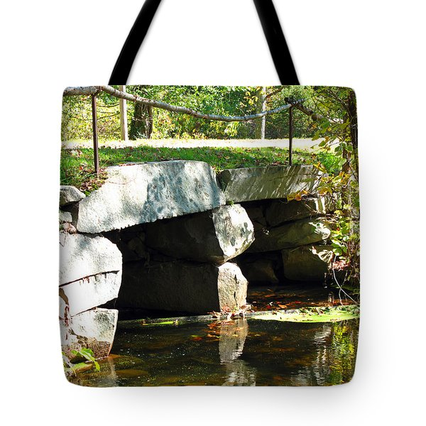 Old Stone Bridge Tote Bag by Barbara McDevitt