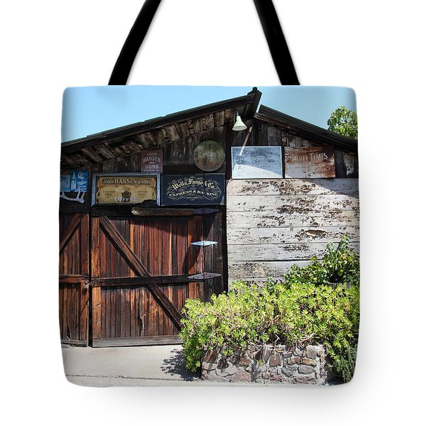 Old Storage Shed At the Swiss Hotel Sonoma California 5D24458 Tote Bag by Wingsdomain Art and Photography