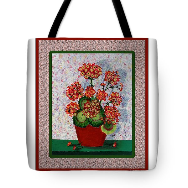 Old Time Geraniums Tote Bag by Barbara Griffin