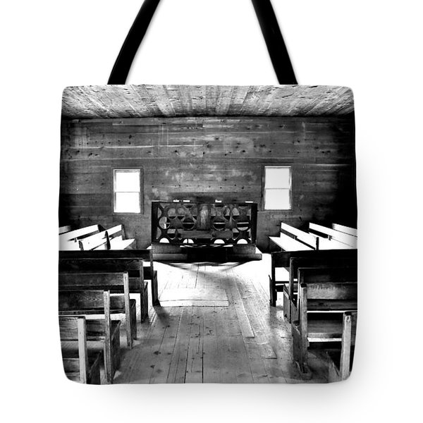 Old Time Religion -- Cades Cove Primitive Baptist Church Tote Bag by Stephen Stookey