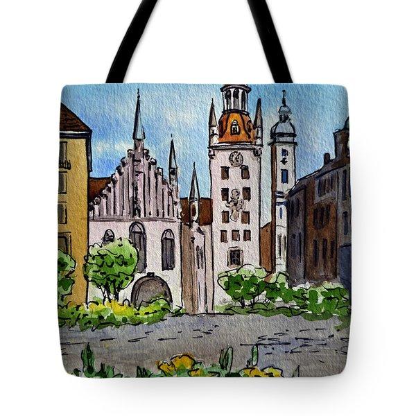 Old Town Hall Munich Germany Tote Bag by Irina Sztukowski