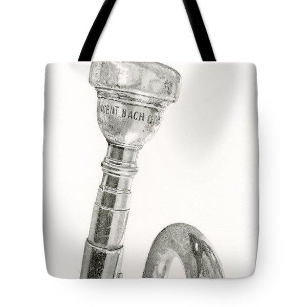 Old Trumpet Tote Bag by Sarah Batalka