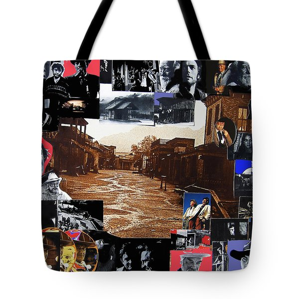 Old Tucson Arizona Composite Of Artists Performing There 1967-2012 Tote Bag by David Lee Guss