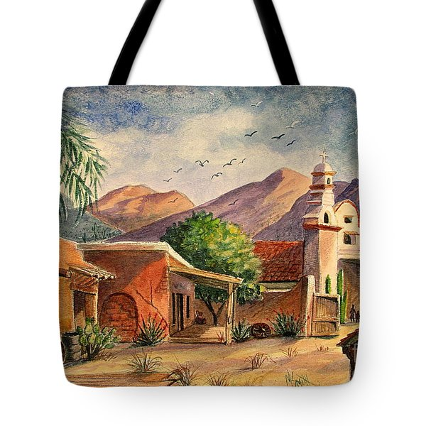 Old Tucson Tote Bag by Marilyn Smith
