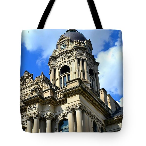 Old Vanderburgh County Courthouse Tote Bag by Deena Stoddard