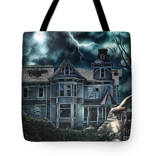 Old Victorian House Tote Bag by Mo T