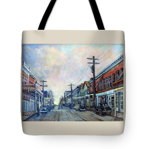 Old Virginia City Tote Bag by Donna Tucker