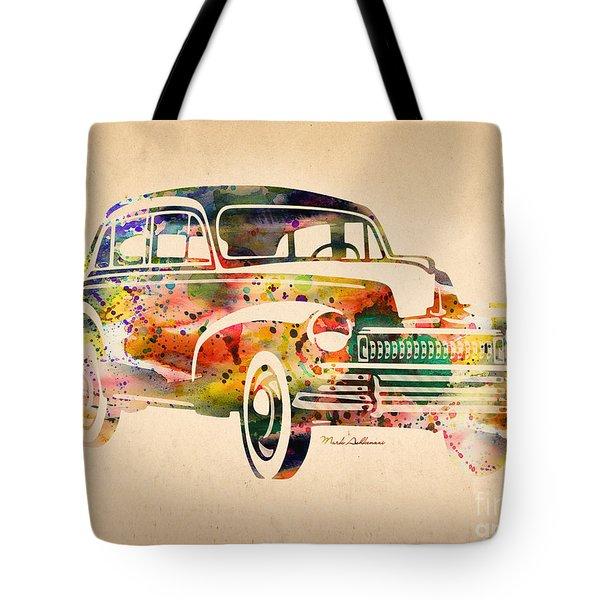 Old Volkswagen Tote Bag by Mark Ashkenazi