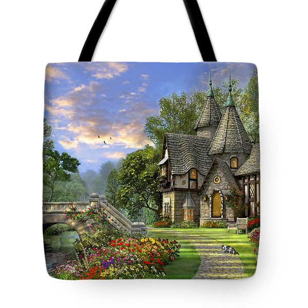 Old Waterway Cottage Tote Bag by Dominic Davison